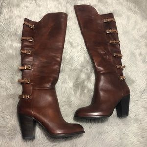 Gianni Bini Leather Over the Knee Samonne Boots